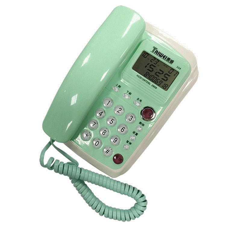 电话机 壁挂式 小 固话挂墙 客房卧室宾馆酒店挂机分机家用座机