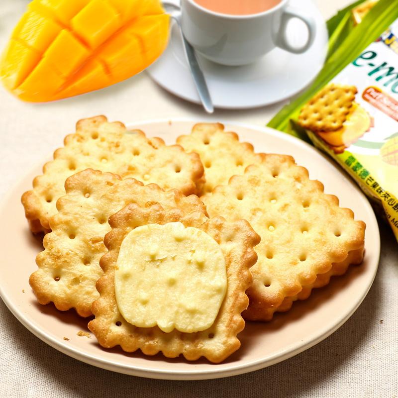 马来西亚进口零食饼干julies茱蒂丝雷蒙德芒果味夹心饼干180g/袋