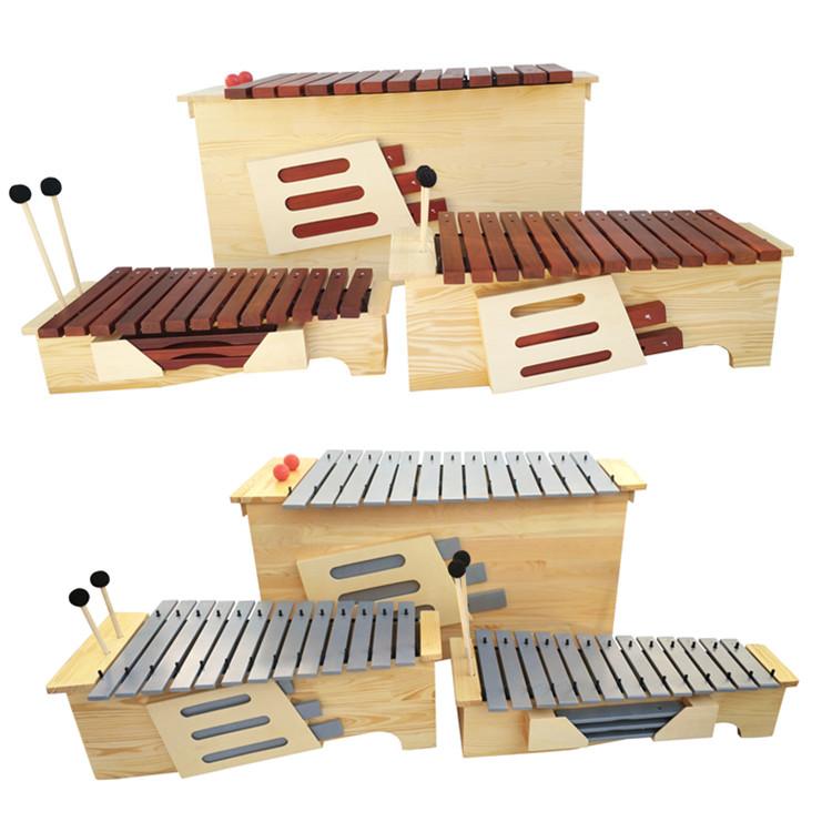 Изменить тон красный Деревянный ксилофон высокая Ксилофон среднего баса алюминий панель Орк Перкуссия 13 Спикер