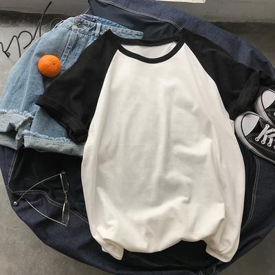 电商A028 D50 P25 95%棉5%氨纶 个性短袖印花T恤1