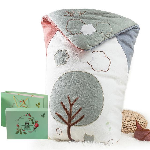 婴儿抱被新生儿包被春秋冬季小被子纯棉初生宝宝用品外出襁褓睡袋