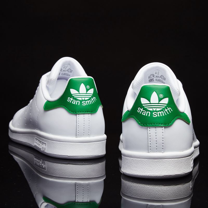 Adidas official shoes men's and women's shoes board shoes new clover sports casual shoes Smith green tail small white shoes
