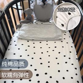 软糯婴儿针织棉床笠纯棉床单儿童床垫套宝宝床罩新生床上用品定制