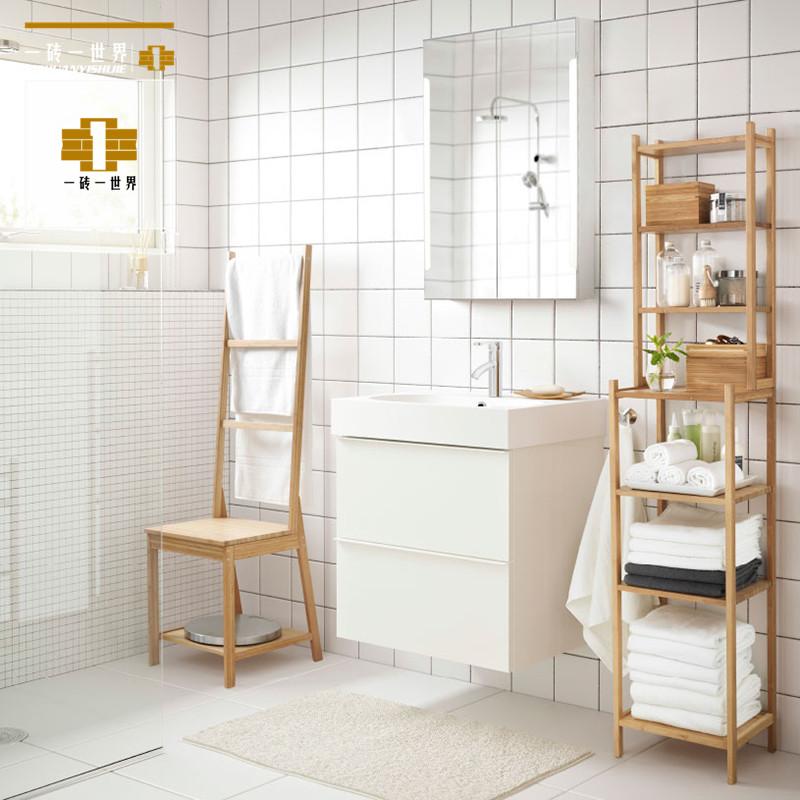 北欧厨卫瓷砖厨房卫生间白砖哑光亮光洗手间瓷砖小白砖150