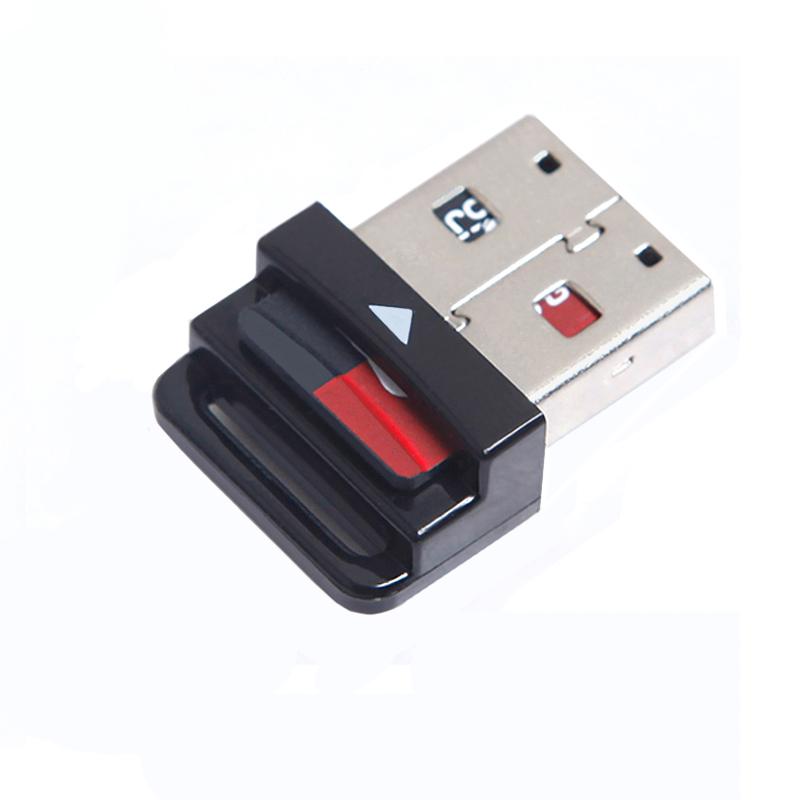 迷你车载Micro sd内存卡读卡器TF千 车用mini小USB型汽车音乐