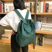 高中大学生古着感少女电脑包旅行背包双肩包 ins风书包女冠军韩版