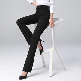西装裤女秋冬显瘦垂感直筒高腰黑色上班职业工作裤子正装长裤厚款图片