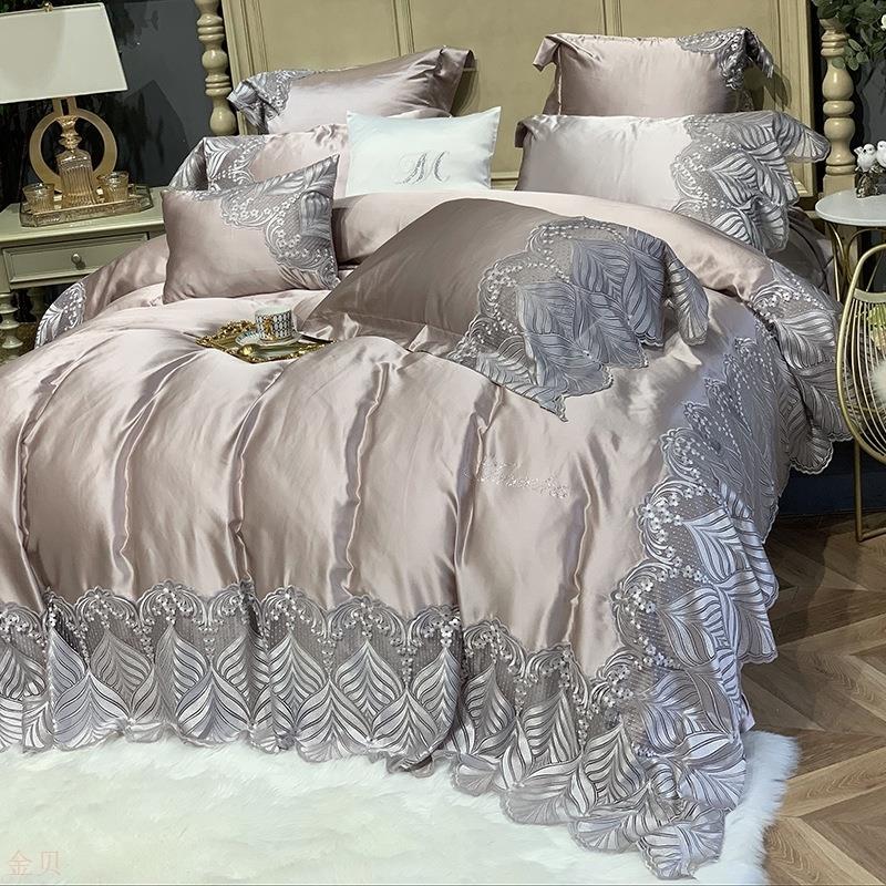 家纺欧式四季款四件套丝棉寝具样板房床上用品工