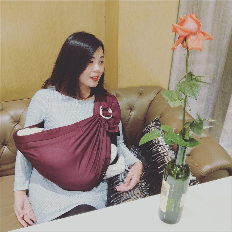 婴儿背巾背带横抱式前抱夏传统简易斜抱初生抱袋0-3-12个月新生儿