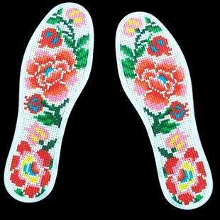 半成品垫底断线新款喜庆十字绣鞋垫