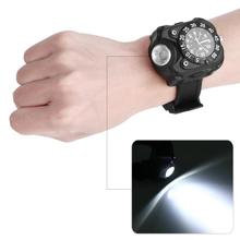 USB Rechargeable LED Wrist Watch Lamp Compass Outdoor Sports
