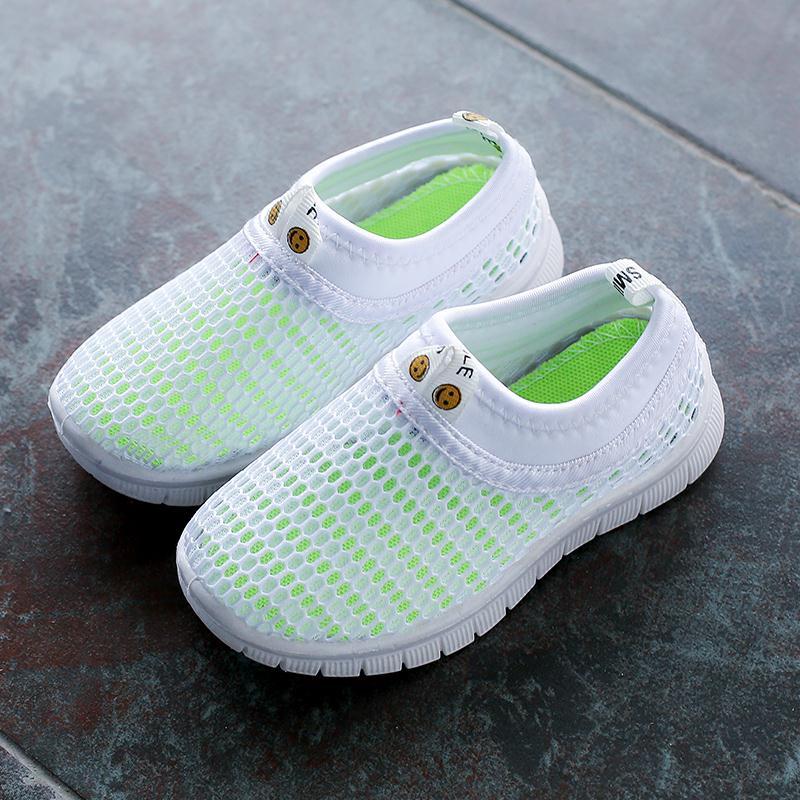 儿童单网鞋透气 夏季男童女童休闲鞋网面童鞋 小学生白色运动鞋,可领取元淘宝优惠券