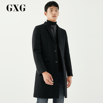 GXG mens clothing 2017 winter mall with the same black long coat #174226456