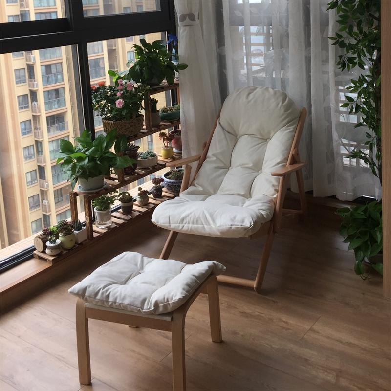 躺椅阳台家用休闲折叠躺椅午休懒人午睡椅宜家孕妇老人户外逍遥椅