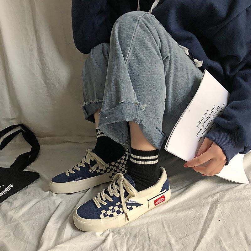 (用1元券)万斯能帆布鞋男女情侣韩版潮流男鞋