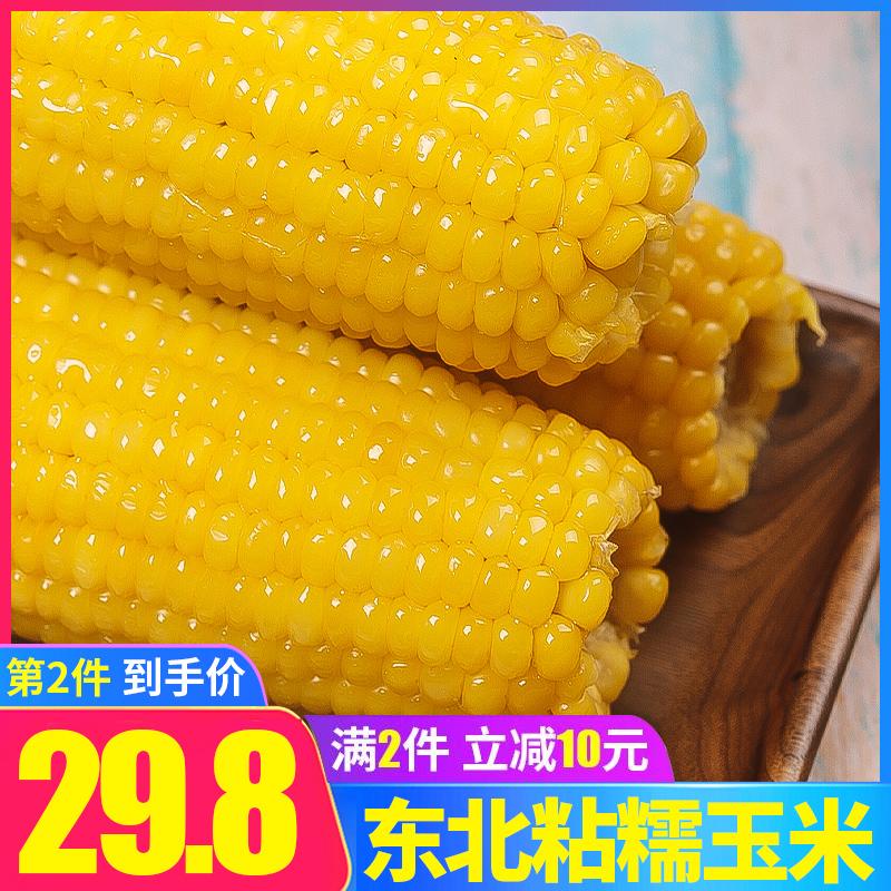 柒然玉米东北新鲜糯玉米黏玉米甜糯玉米真空袋装粘玉米黄玉米10根 thumbnail