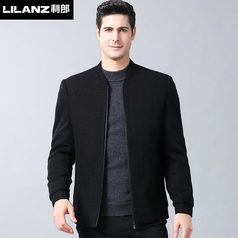 LiLang official flagship store coat 2020 new wool jacket mens fashion casual baseball collar jacket authentic