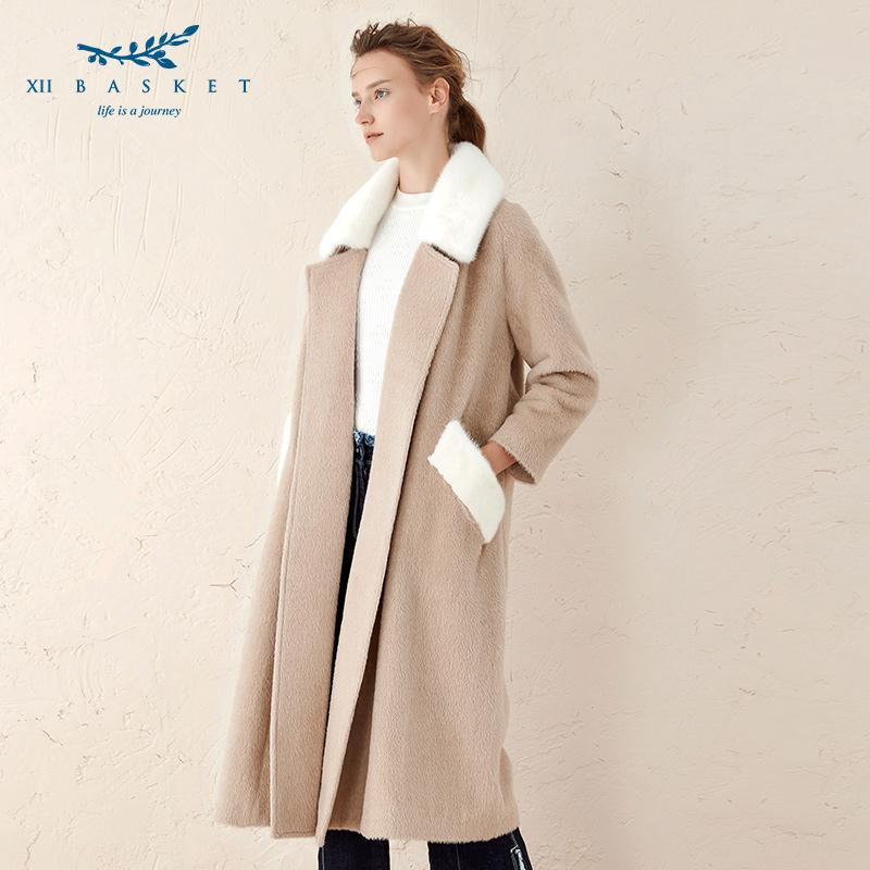 影儿十二篮冬羊驼毛混纺双面呢优雅简约长款大衣女