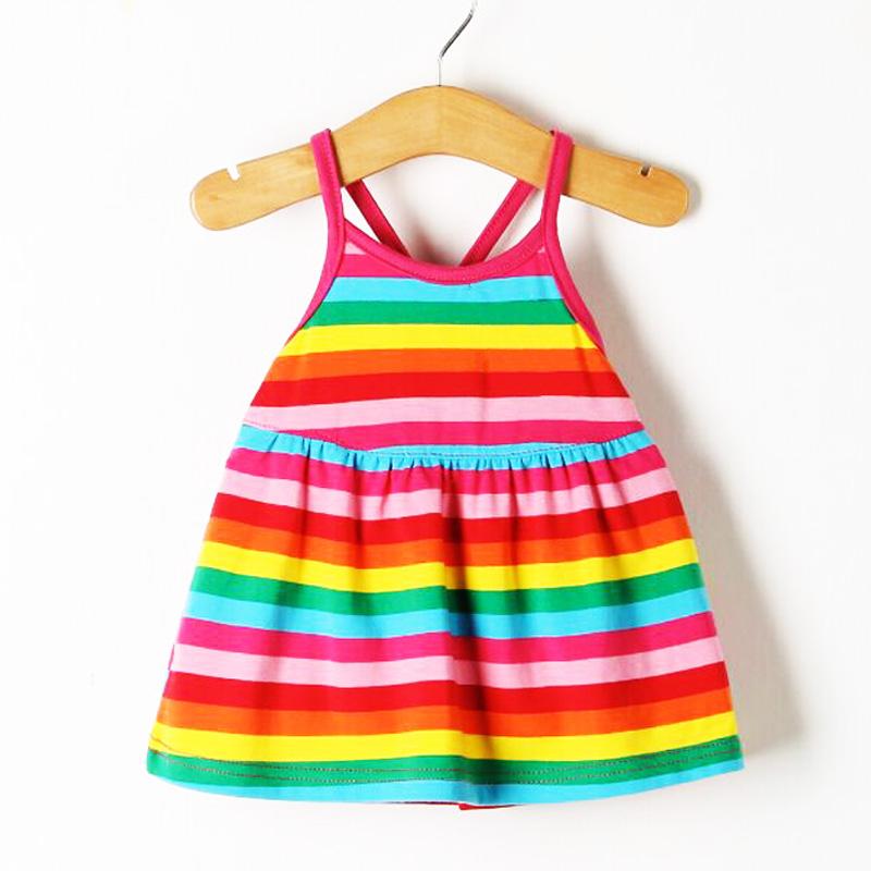 2018新款婴儿夏装小女孩衣服女童宝宝吊带连衣裙洋气儿童公主裙子