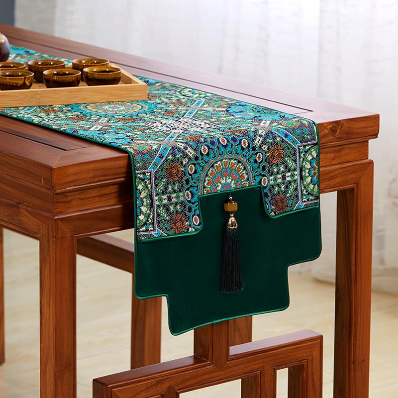 桌旗中式禅意新中式茶桌布茶台布艺桌旗布中国风茶旗古琴桌旗盖布
