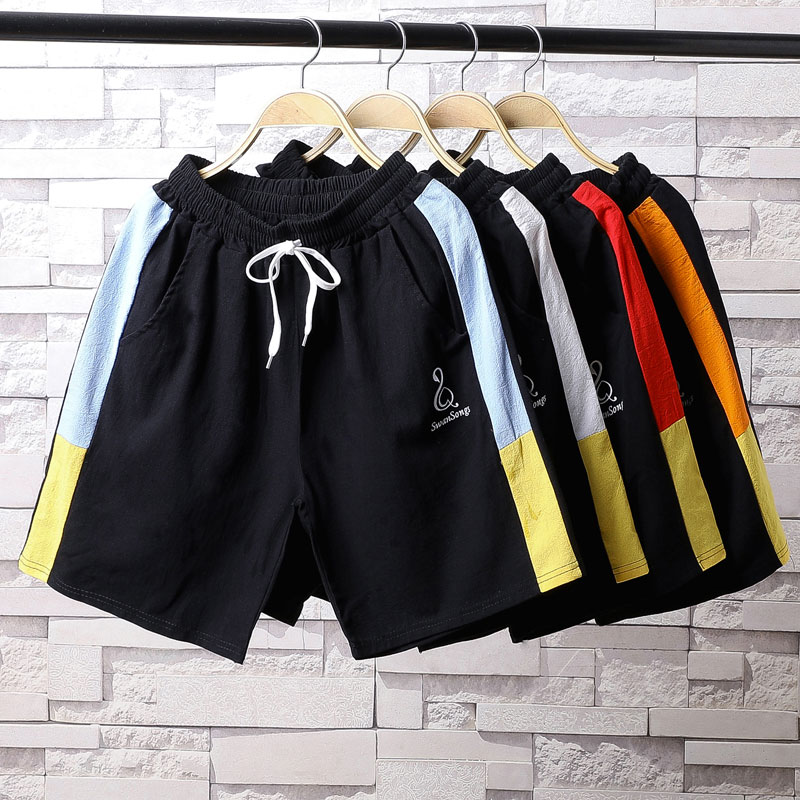 Mens casual shorts summer Capris wear fast dry medium pants loose beach pants sports pants fashion brand