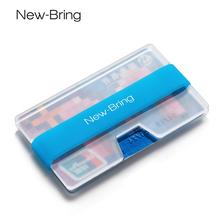 NewBring薄款透明卡包男大容量夜光情侣礼品小钱包女信用卡片夹夏