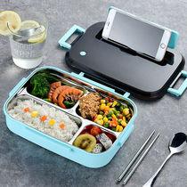 304不锈钢儿童便携饭盒大容量上班族男生小学生专用打餐盒食品级