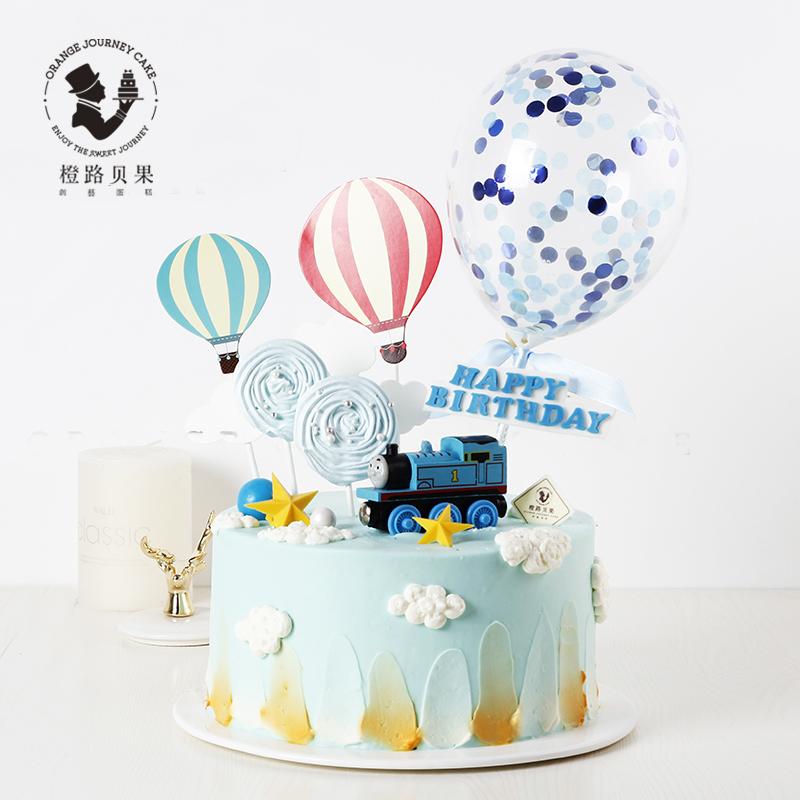 橙路贝果托马斯小火车男童生日蛋糕限10000张券