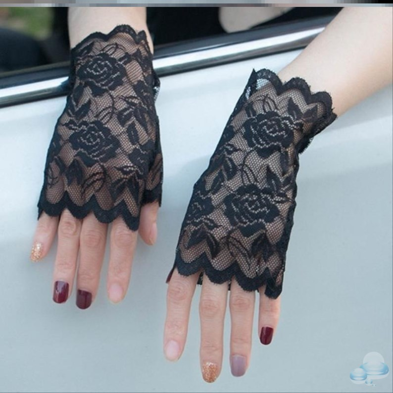 Womens cycling special summer outdoor lovely even finger versatile sun protection gloves thin ice silk womens Retro driving