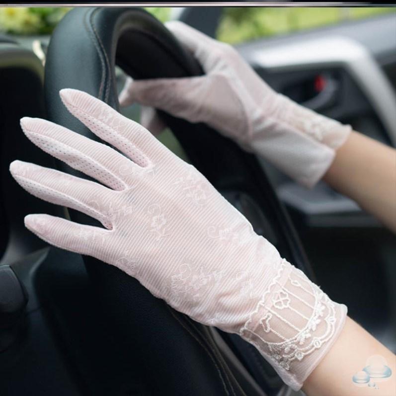 New white sun proof gloves for female Xia Bingsi