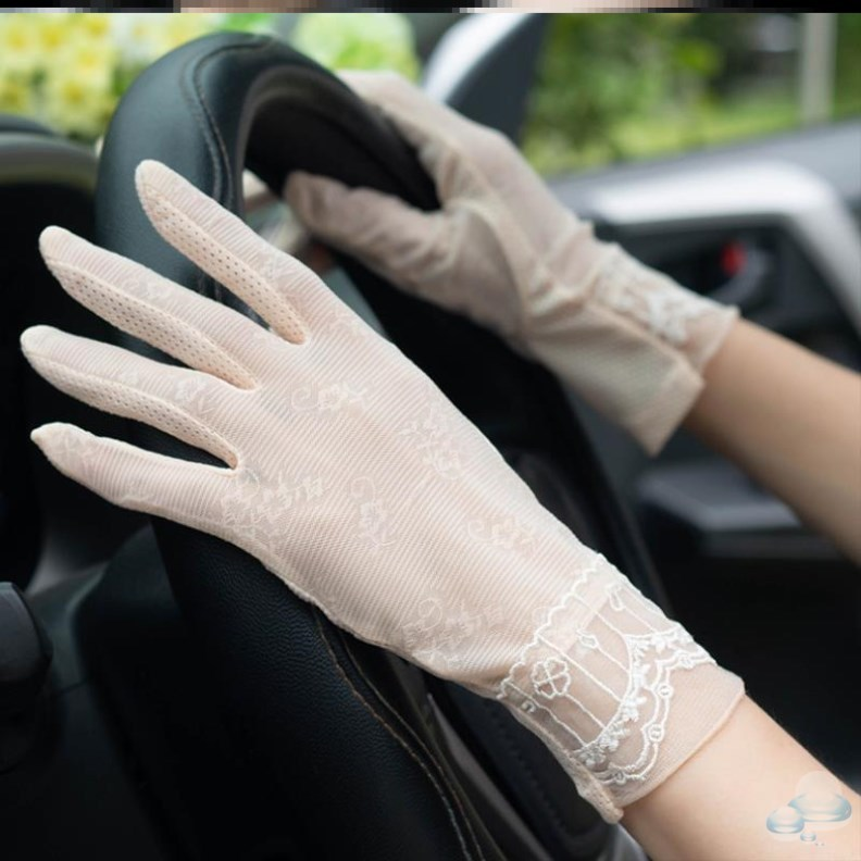 Drivers all-round cycling anti skid touch screen womens anti UV gloves driving in summer