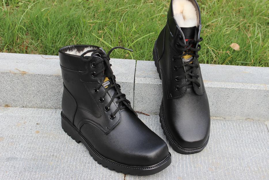 冬季韩版马丁靴男靴加绒棉靴男士短靴高帮皮靴中帮中老年防滑保暖