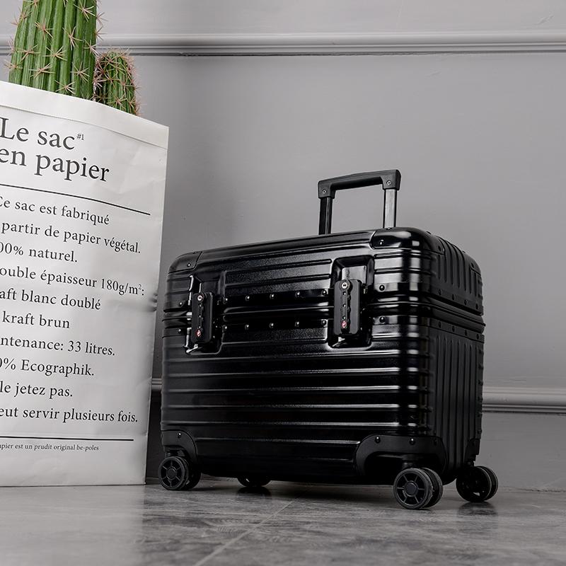 摄影拉杆箱旅行电脑登机小型行李箱女18寸20迷你上开盖铝框PC轻便