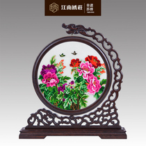 Office decoration Suzhou Embroidery Decoration double-sided Embroidery Chinese screen hand-embroidered Chinese gifts