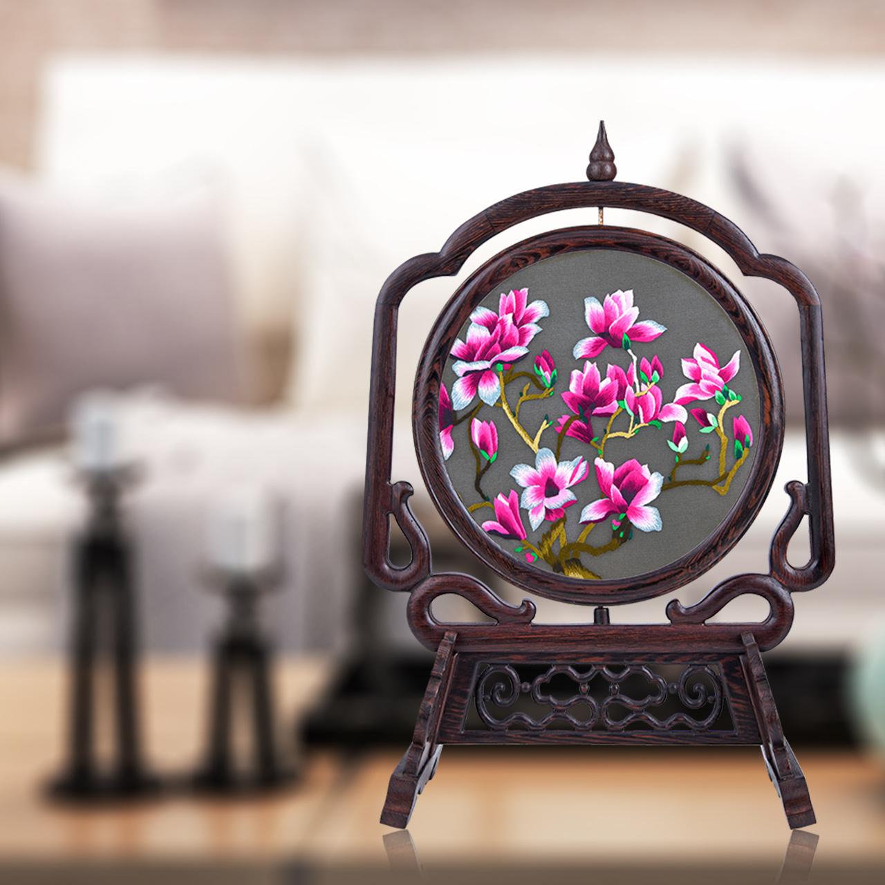 马到成功摆件屋内装饰品家居摆设中国风小礼物送老外出国礼品苏绣