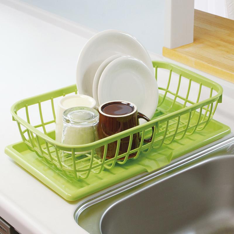 12月02日最新优惠日本进口SANADA 沥水架 塑料碟碗架 餐具收纳盒 碗筷整理沥水盘
