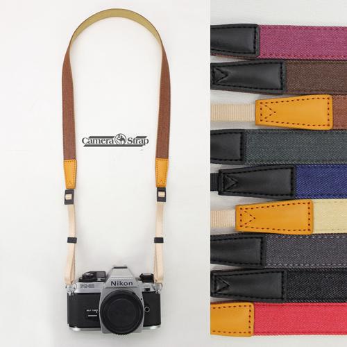 12-03新券牛仔相机带肩带单反微单背带文艺挂绳佳能拍立得复古索尼富士纯棉