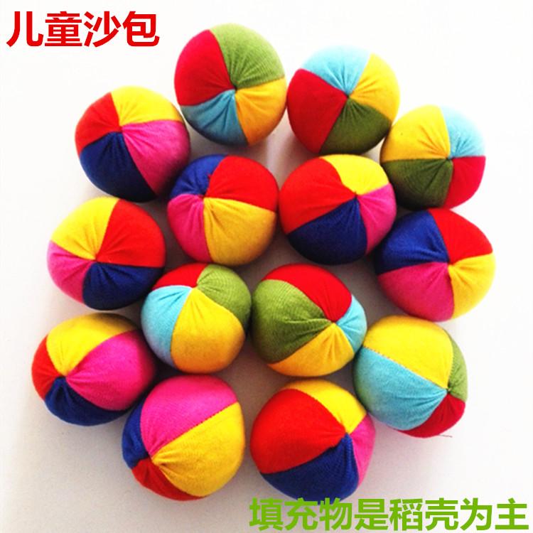 Sandbags toys childrens cloth art meteor ball color cloth ball outdoor sports parent child game kindergarten activity props
