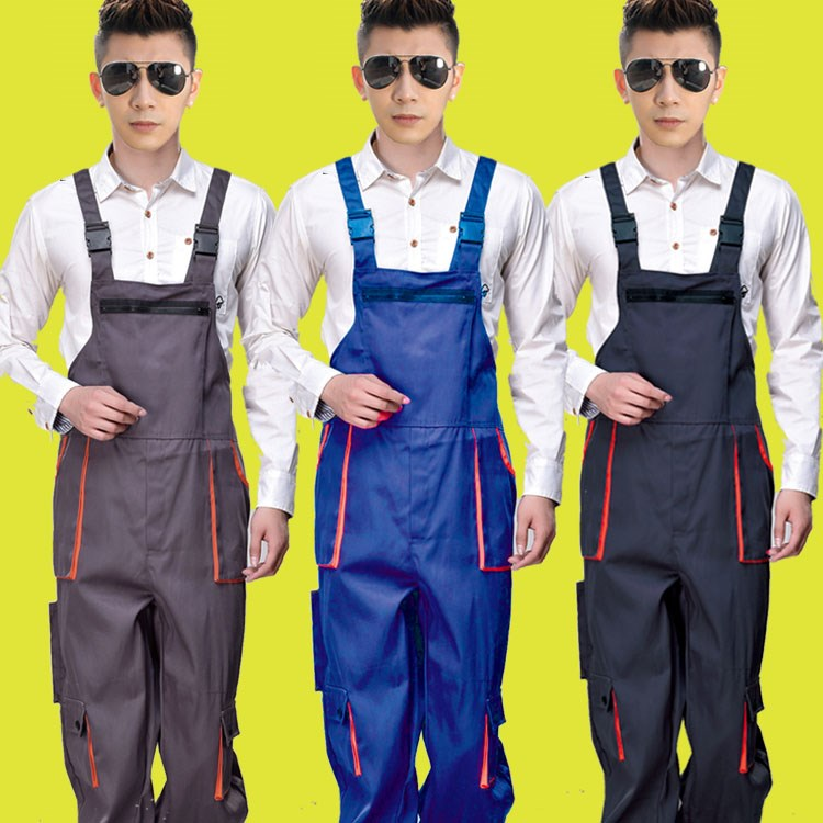 Working clothes pants, trousers, trousers, trousers for men and women, dog training, automobile repair car performance, Multi Pocket suspender overalls