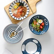 日式拉面碗單個家用創意斗笠碗飯碗吃泡面碗陶瓷餐具大號湯碗面碗
