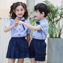 夏装深圳校服套装男女童幼儿园园服六一儿童节演出服小学生班服