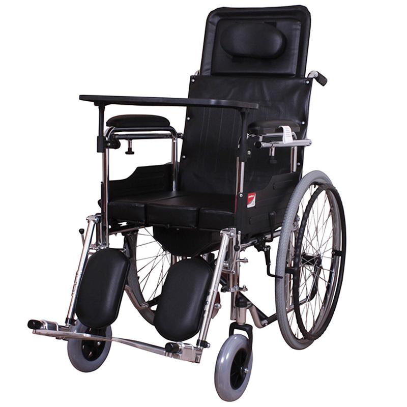 限8000张券鱼跃h009b折叠轻便家用老年带轮椅