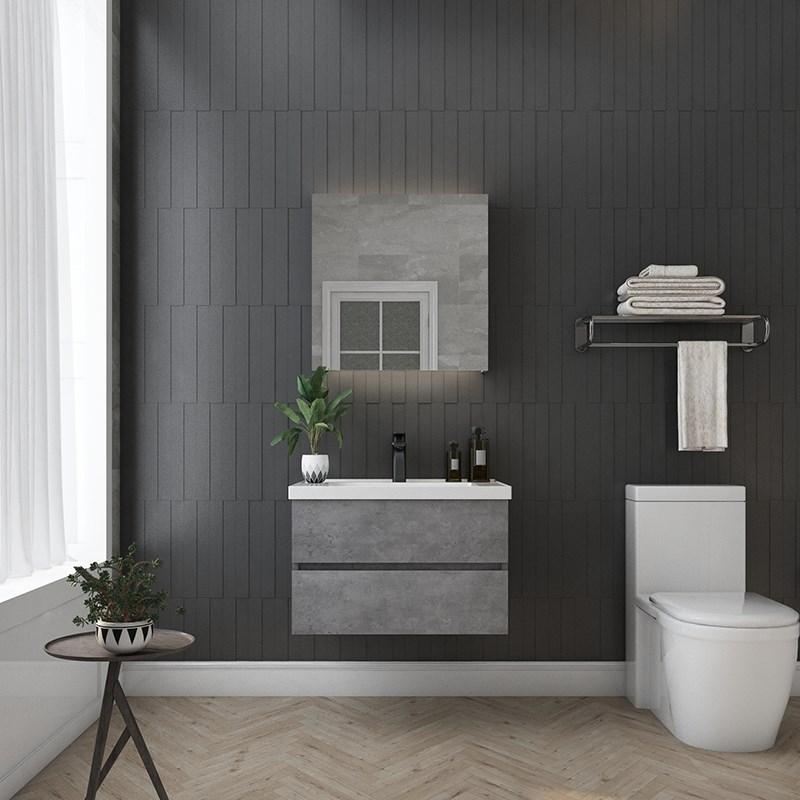 北欧风灰色镜柜组合吊柜落地柜洗漱台洗手盆可换智能镜智能镜柜11月29日最新优惠