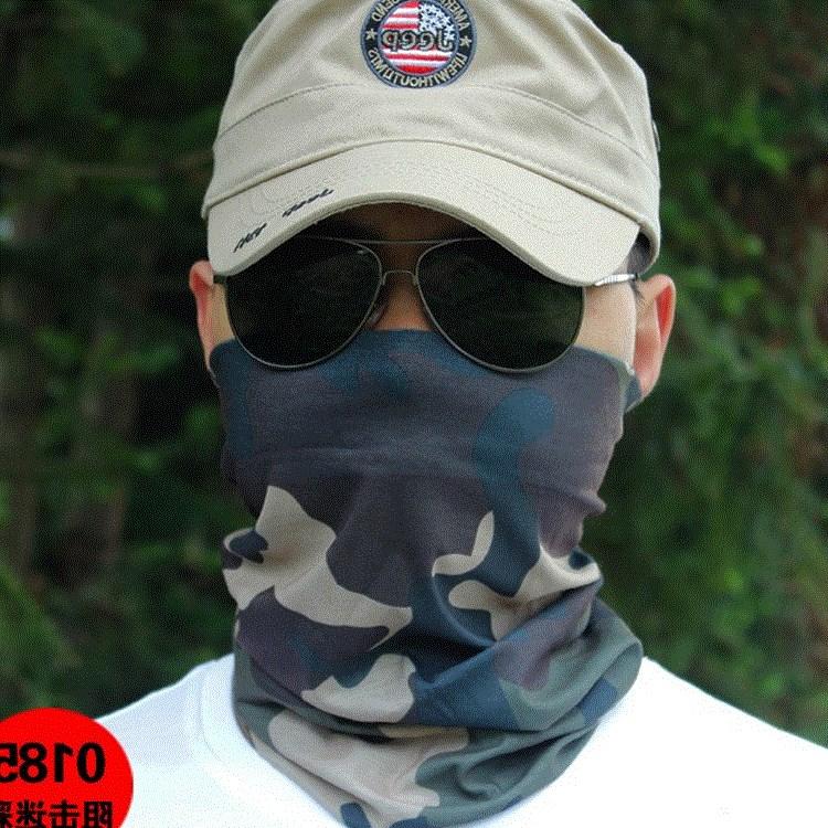 买二送一防晒面罩男夏季遮脸防紫外线钓鱼面巾护颈头巾女面部脖套