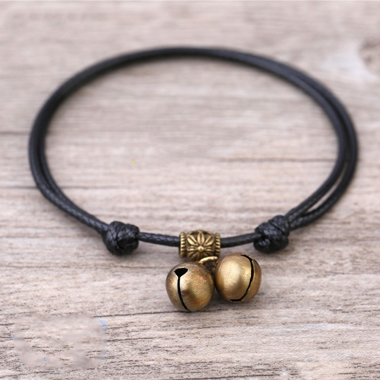 Adornment boy fashion personality Anklet female ancient national wind bell Dang Bracelet lovely Trinket foot accessories