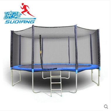 Commercial stand trampoline Trampoline childrens outdoor large indoor home bungee square kindergarten with protective net