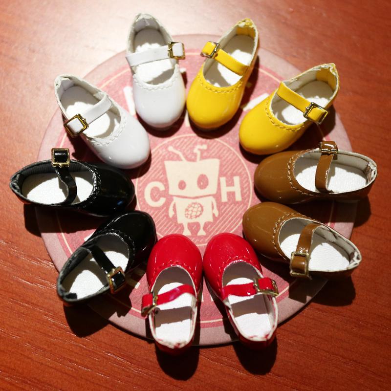 8分BJD 胶皮娃娃 小布Blythe 娃用皮鞋 娃鞋 现货