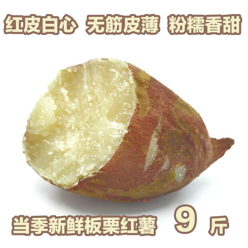 9斤装新鲜白心红薯农家自种甜面粉糯烧烤番薯地瓜山芋18年8月现挖