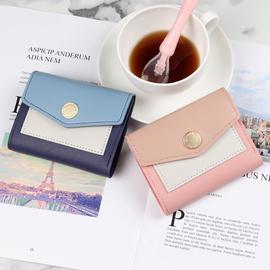 女士短款钱包2020新款韩版多功能迷你皮夹小清新薄款钱夹女式卡包图片