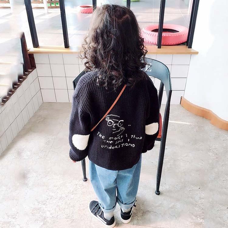 女童春秋季新款长袖宽松儿童外衣2018女宝宝舒适卡通宝宝外套